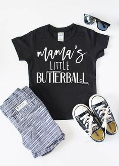"""Kids Thanksgiving Shirt Kids Shirt Toddler T Shirt Boys This Thanksgiving Shirt with """"Mama's little butterball"""" short sleeve kids shirt and graphic tshirt is the perfect gift and is sure to have everyone asking you where you got this great funny shirt this Thanksgiving. Infant - toddler size t shirts are available. We use a high-quality unisex kids t-shirt."""