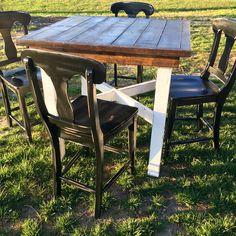 Handmade farm style pub table