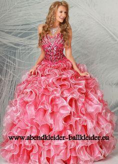 Abend - Ballkleid Brautkleid Online in Lachs
