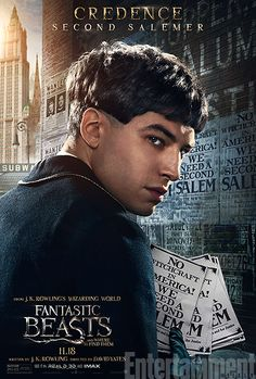 'Fantastic Beasts and Where to Find Them': See 9 Magical Character Posters | Ezra Miller as Credence Barebone | EW.com