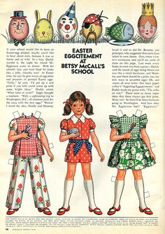 Betsy McCall paper doll.....I remember playing with these. It seems that McCall's magazine had these paper dolls inside and I used to look forward to it every month. :)