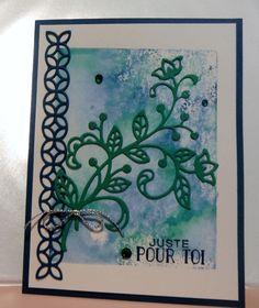 Joli feston et bordure du jeu de poinçon Thinlits En fleur de Stampin' Up!