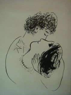 The First Encounter ~ Marc Chagall Joan Miro Paintings, Chagall Paintings, Famous Art Pieces, First Encounter, Acrylic Painting Lessons, Black Ink Tattoos, Marc Chagall, Jewish Art, Art For Art Sake