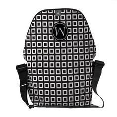 Vector Black and White Elegant Courier Bags Monogram Design