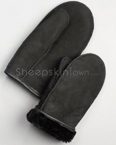 Shop FurHatWorld for the best selection of Shearling Sheepskin Gloves / Mitts. Buy the Men's Alaska Napa Leather Shearling Sheepskin Mittens in Black by FRR with fast same day shipping. Leather Skin, Suede Leather, Mitten Gloves, Mittens, Alaska Fashion, Sheepskin Gloves, Canadian Winter, Napa Leather, Winter Accessories