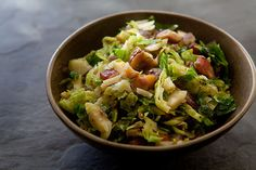 Brussels Sprouts with Bacon and Chestnuts on Simply Recipes