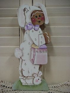 HP~~Gingerbread Dressed in Bunny Suit ~~ SHELF Sitter