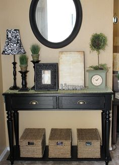 distressed weathered console table vintage black console tables table top trends and styles pinterest entry ways entryway and entry tables