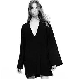 Helmut Lang Crepe Swing Dress for 2016 lookbook photoshoot