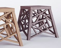 Conceptual project of a wooden stool