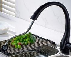 Drezová batéria so spŕškou s matným čiernym povrchom Garlic Press, Grill Pan, Griddle Pan