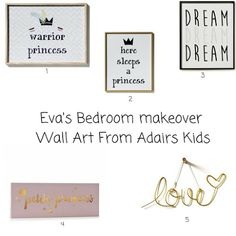 Wall art From Adairs Kids for a girls pink, gold and black themed bedroom Bedroom Themes, Kids Bedroom, Dream Warriors, Adairs Kids, Working Moms, Soft Furnishings, Pink Girl, Things To Think About, Crafts For Kids