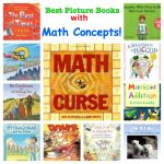 Best Picture Books That Teach Math Concepts Many students will be able to understand mathematics concepts through literature! Here are some really good choices to use to integrate LA with Math. Math Literacy, Homeschool Math, Math Teacher, Math Classroom, Kindergarten Math, Fun Math, Teaching Math, Math Activities, Numeracy