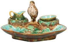 George Jones Majolica Strawberry server up for auction, soon