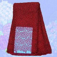 (5yards/lot) SLF40-5,High Quality african100% Cotton Cord French Lace water soluble red color!guipure lace fabric