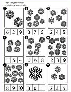 Image result for snowflake numbers activities