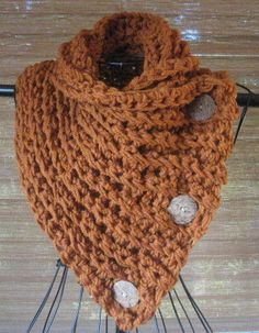 PATTERN ONLY. Crochet Cowl. Instant Download. Scarf, Scarves, Cowl Pattern, Scarf Pattern, Buttoned Cowl, Buttoned Scarf, Three Button Scarf...