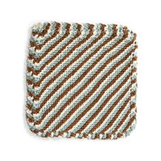 Brighton Beach Washcloth, free PDF: I have an number of these nice, infinitely variable scrubbies which I received as gifts and I'm glad to find a pattern so I can make and give some in return. #Knitting #Wash_Cloth #Lion_Brand