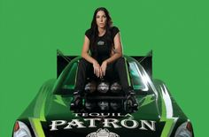 We love Alexis!    Alexis DeJoria, daughter of the famed John Paul DeJoria, is a professional NHRA race car driver, competing in the Nitro Funny Car class on the Kalitta Motorsports team. She is their second Nitro Funny Car driver and fourth member of the team. Alexis drives a Tequila Patron-sponsored 2012 Toyota Camry.