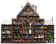 Just in time for Christmas… we've got an awesome portrayal of Santa's workshop, completed entirely with LEGO parts and pieces.