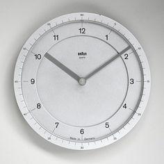 Rare Braun ABW 41 prototype clock in aluminium by Dietrich Lubs, 1981.