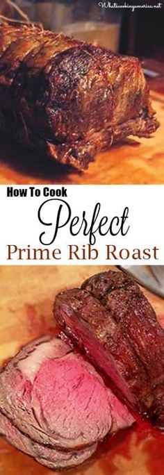 How To Cook Perfect Prime Rib Roast - Purchasing, Prepping, Cooking Temp Charts, Carving & Side Dishes! dinner prime rib Perfect Prime Rib Roast Recipe and Cooking Instructions Beef Dishes, Food Dishes, Roast Recipes, Cooking Recipes, Cooking Time, Game Recipes, Cooking Food, Cooking Dishes, Cooking Turkey