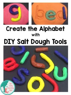 Have fun making these tools then using them to make all the letters of the alphabet. Great for forming words and reading, too. Free template included (Liz's Early Learning Spot)