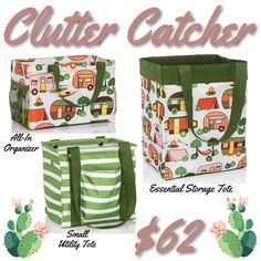 Clutter Catcher Bundle! #thirtyone #june #bundle #summer #savings www.mythirtyone.com/1735467 Thirty One August, Thirty One Catalog, 31 Gifts, Thirty One Gifts, Grillin And Chillin, One Summer, Spring Summer, Large Utility Tote, Thirty One Consultant