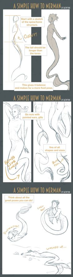 How to Draw Merpeople by Batwynn on DeviantArt