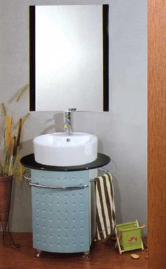 bathroom vanity cabinet with ceramic basin black tempered glass counter top frame mirror