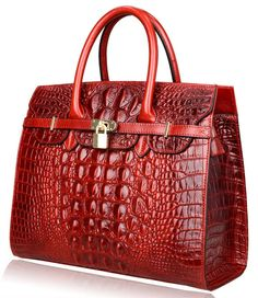 This style handbag use very nice imported leather with embossed crocodile, and high quality lining and convenient long strap, and have a padlock. Cheap Purses, Purses For Sale, Luxury Purses, Luxury Bags, Leather Crossbody Bag, Leather Handbags, Custom Purses, Purses And Handbags, Ladies Handbags