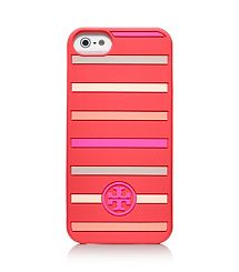 Tory Burch Classic Stripe Silicone Case For Iphone 5   http://www.toryburch.com/on/demandware.store/Sites-ToryBurch_US-Site/default/Search-Show?q=iphone%205%20cases=searchtagcloud