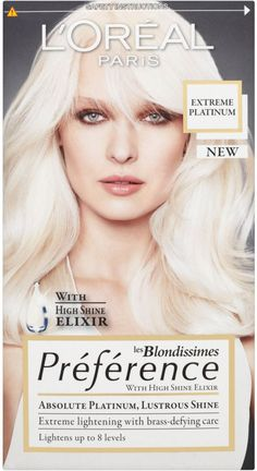 loreal paris extreme platinum | Buy LOréal Paris Preference Platinum - Extreme Platinum Blonde ...   This is the 'colour' of my hair right now. :-)