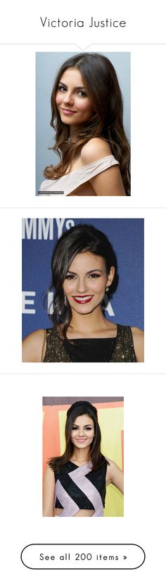 """""""Victoria Justice"""" by cavallaro ❤ liked on Polyvore featuring victoria justice, celebrities, celebs, hair, hairstyles, people, home, home decor, models and pictures"""