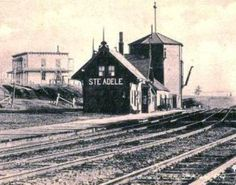 STE-ADELE, Québec - La gare CPR - Railroad station, vers circa 1910 - Style chalet suisse architecture Adele, Train Stations, Circa, Gothic, Abandoned Places, Architecture, Montreal, Canada, Trains