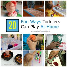 20 fun and entertaining activities for toddlers to play at home. Perfect rainy day activities!
