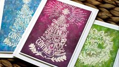 cardmaking video tutorial: Easy Distress Inking ... emboss resist technique and tips by Jennifer McGuire makes these Christmas cards extra special ...