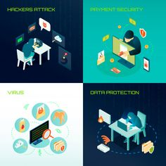 Buy Hacker Isometric Design Concept by macrovector on GraphicRiver. Hacker activity isometric design concept with virus attacks, data protection, payment security isolated vector illust. Cyber Threat, Journey Mapping, Android, Isometric Design, Flat, Magazine Design, Portfolio Design, Free Design, Data Protection