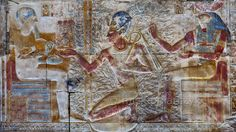 [Egypt 'Second Hypostyle Hall of Seti I Temple at Abydos. Ancient Egypt Art, Ancient History, Ancient Egyptian Architecture, Places In Egypt, Black History Facts, Dungeons And Dragons, Africa, Temples, Painting