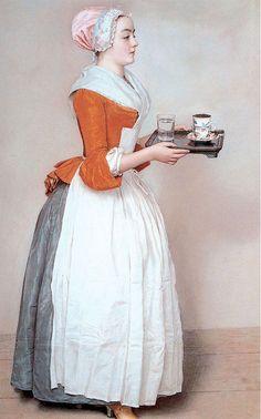 The Chocolate Girl  Jean-Étienne Liotard, 1743-44