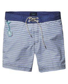 Striped Swim Shorts - Scotch