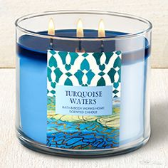 Turquoise Waters 3-Wick Candle - Home Fragrance 1037181 - Bath & Body Works