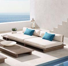 Why Teak Outdoor Garden Furniture? Outdoor Sofa, Best Outdoor Furniture, Ikea Furniture, Pallet Furniture, Kitchen Furniture, Rustic Furniture, Furniture Design, Outdoor Decor, Outdoor Day Beds