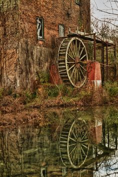 Old, deserted mill near Lindale, Ga.