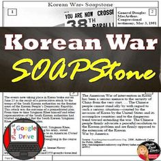 This 2-page, common-core aligned source analysis worksheet will help students to understand the causes of the Korean War and containment policy. Diverse types of sources are included for your students to analyze. The SOUPSTone strategy is used. Common-core aligned! Both Print & Digital (Google ... Creative Teaching, Teaching Science, Social Science, Activity Centers, Learning Centers, Activity World, Teaching Secondary, High School History, Primary Sources