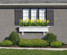 The Yorkshire window box helps you bring home the charm of the East Coast while offering a low maintenance solution. Compliment the appearance of your home with a product that cleans up with the simpl