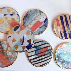 Ruby Pilven ceramic coasters | CERAMIC | Pinterest