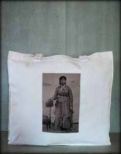 Tintype Tote  Young African American Woman by ScarlettSlipper