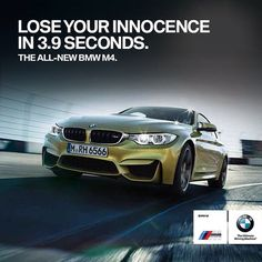 BMW M4 Coupe. Whitty ad. Advertising, cars, speed.