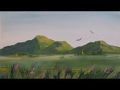 Как нарисовать горы гуашью [Картина за 3 минуты!] - YouTube